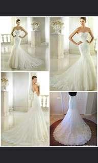 名牌婚紗全新半價出售 著過一次 原價2萬幾