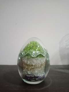 Fortune Egg with colourful stone