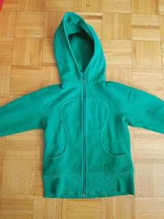 Green lululemon zip up hoodie