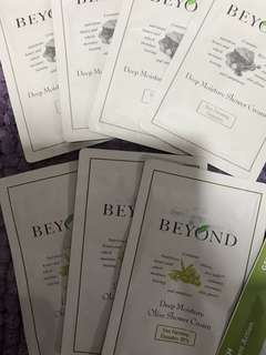 Beyond Hair and Bodycare in Packets $0.50 each