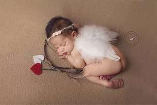Baby Photoshoot Costumes Angel Cupid Full Month / 100 Days Baby mini spectacle/glasses for baby photoshoot props