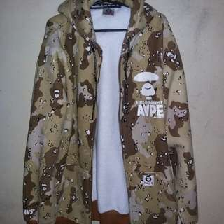 AAPE by a bathing ape zip up camo hoodie ( FAPE/OFF )