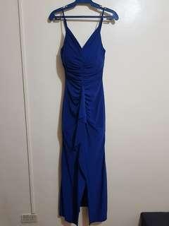 Long Dress Gown Blue