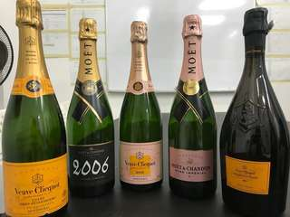 MOET display bottles(8bottles)