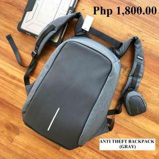 Anti Theft Backpack (GRAY) - BRAND NEW