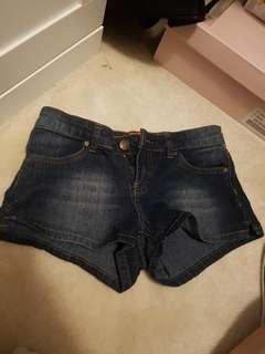 Low rise short shorts