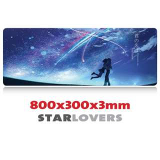 STAR LOVERS 8030 Extra Large Mousepad Anti-Slip Gaming Office Desktop Coffee Dining Tabletop Decorative Mat