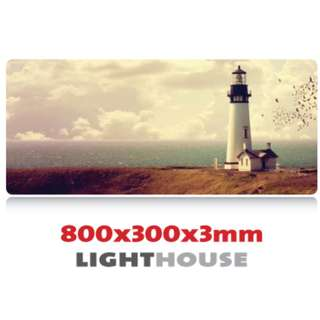 LIGHTHOUSE 8030 Extra Large Mousepad Anti-Slip Gaming Office Desktop Coffee Dining Tabletop Decorative Mat