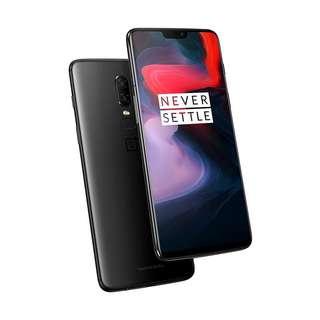 Kredit Mudah OnePlus 6 Smartphone - Midnight Black [64GB/ 6GB]