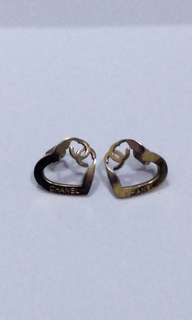 98%新Chanel 同款玫瑰金耳環
