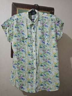 Vintage Beverly Hills Polo Club Floral Button Up Shirt