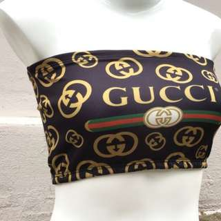 Gucci Tube Top Crop Top
