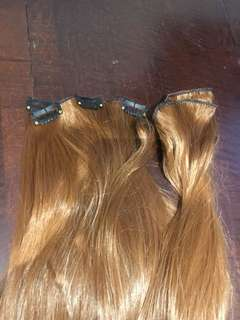 Auburn clip in extensions