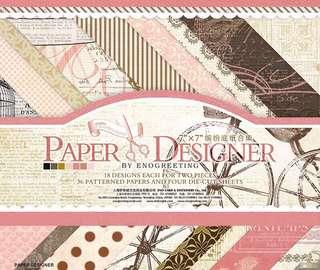 Set of 36 pcs 7 inch Floral Vintage Decorative Paper Stock Pack