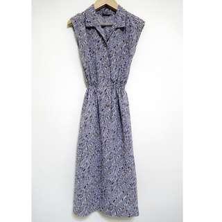 mondada日系紫羅蘭色幾何古著洋裝vintage