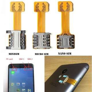 Sale! Dual Nano Sim Card Extender Micro SD Card