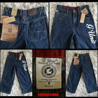 G UNIT (50 cents hip hop group) Original Long Pants Jeans for kids age 8 years old.