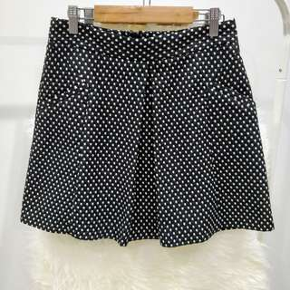 Topshop Polka Dots Black and White Skirt with Pockets
