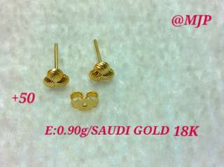 EARRINGS 0.90 GRAMS 18K SAUDI GOLD