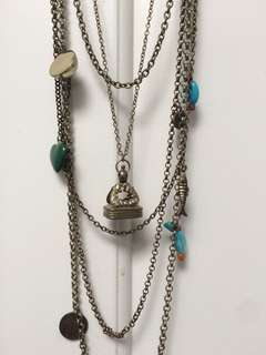 Long layer necklace
