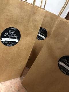 KRAFT PAPER BAGS+LABELS(customer's order)