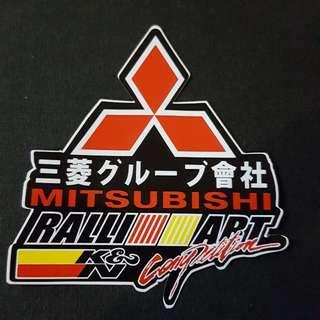 Mitsubishi Ralliart K&M Sticker Stickers