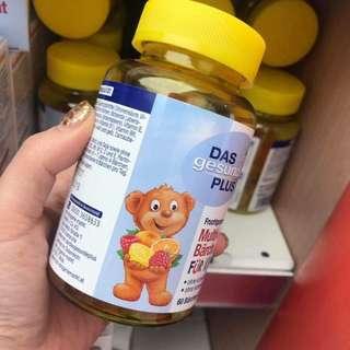 🚚 德國兒童多種維生素小熊軟糖 60粒