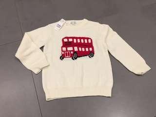 🚚 倫敦巴士針織衫120cm