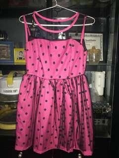 Pink polkadot dress
