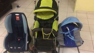 Baby stroller , baby car seat , baby carrier bag and baby bouncer