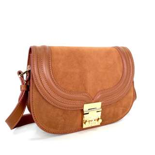 MCM Trisha in Suede Calf Leather