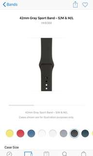 Apple watch sport grey band