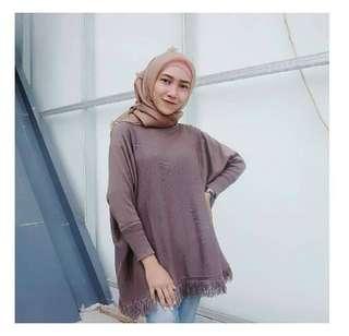 Raida Sweater Burgundy