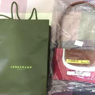 Longchamp 桃紅色手提袋 全新正品