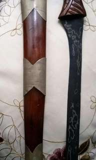 Old Badik with crafted handle