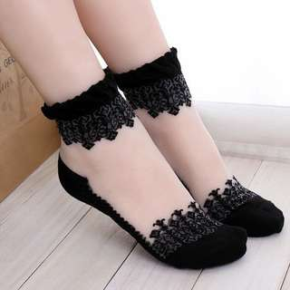 Ultrathin Lace Socks
