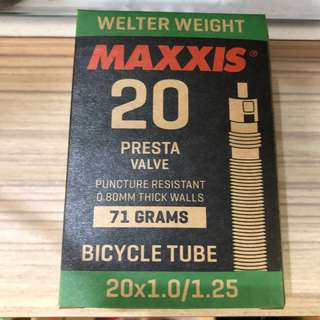 New: Maxxis Welter Weight 20x1.00/1.25 Presta Valve Inner Tube