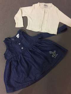 Set of dress n baby coat