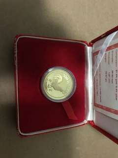 1981 $500 Rooster Gold Proof Coin