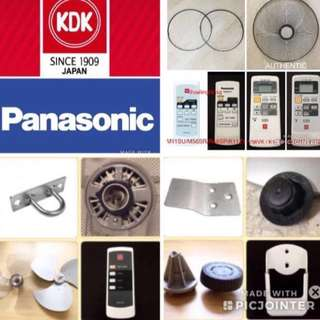 KDK & Panasonic accessories for KDK ceiling fan / KDK wall fan etc
