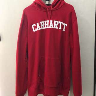 CARHARTT WIP hoodie red hooded college sweatshirt