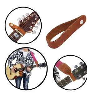 Acoustic Guitar Neck Strap Button Headstock Adaptor Synthetic Leather