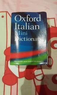 Dictionary ~ Oxford Italian Mini Dictionary