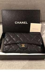 Authentic Chanel Flap Wallet Caviar
