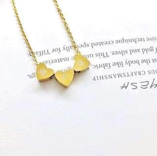 Triple Dainty Heart Necklace