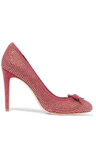 Tory Burch Phoenix Crystal-Embellished Suede Pump