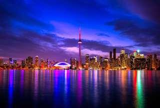 Toronto skyline canvas