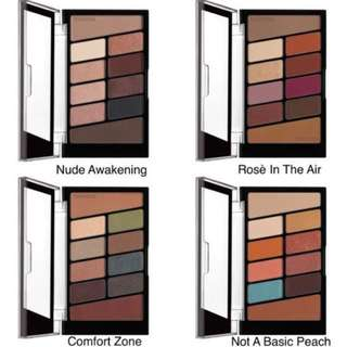 Wet N Wild 10 pan eyeshadow palette - rose in the air, not a basic peach, comfort zone, nude awakening