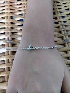 silver 925 love bracelet