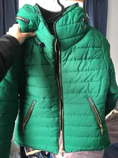 Green Padded Winter Jacket - Boohoo